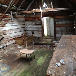 Dilapidated Cabin, Tumbo Island, Gulf Islands National Park Reserve, British Columbia, Canada