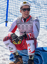 16.03.2019, Soldeu, AND, FIS Weltcup Ski Alpin, Riesenslalom, Herren, Siegerehrung, Weltcupwertung, im Bild Marcel Hirscher (AUT, Sieger Slalom, Riesen Slalom und Gesamt Weltcup) // Winner of the Slalom, Giant Slalom and Overall World Cup Marcel Hirscher of Austria during the winner ceremony for the men's Giant Slalom Worldcup rating of FIS Ski Alpine World Cup finals. Soldeu, Andorra on 2019/03/16. EXPA Pictures © 2019, PhotoCredit: EXPA/ Erich Spiess