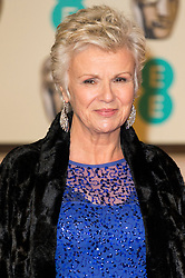© Licensed to London News Pictures. 14/02/2016. London, UK. JULIE WALTERS arrives on the red carpet for the EE British Academy Film Awards 2016 after party held at Grosvenor House . London, UK. Photo credit: Ray Tang/LNP Photo credit: Ray Tang/LNP