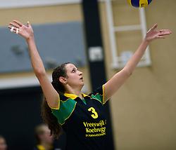 25-10-2014 NED: Prima Donna Kaas Huizen - SV Dynamo Apeldoorn, Huizen<br /> Apeldoorn pakt de drie punten door Huizen met 3-0 te verslaan / Danielle de Hooge