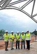 Biomuseo, visita de miembros fundadores y el Ing. Gilberto Guardia. 2012 Panama City.©Victoria Murillo/Istmophoto.com