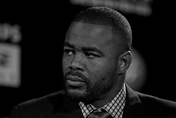 Atlanta, GA - April 18, 2012:  Former UFC Light Heavyweight champion Rashad Evans during the final press conference for UFC 145 at the Park Tavern in Atlanta, Georgia.