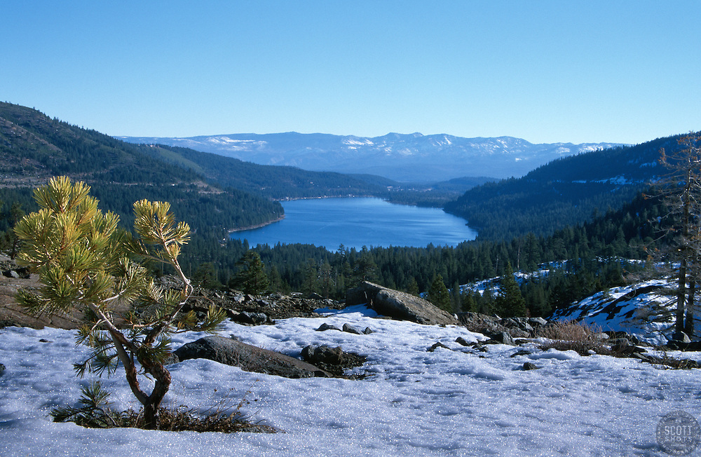 &quot;Donner Lake 2&quot;- Photographed from the west end of Donner Lake, facing toward the town of Truckee, CA.<br /> Photographed: November 2002