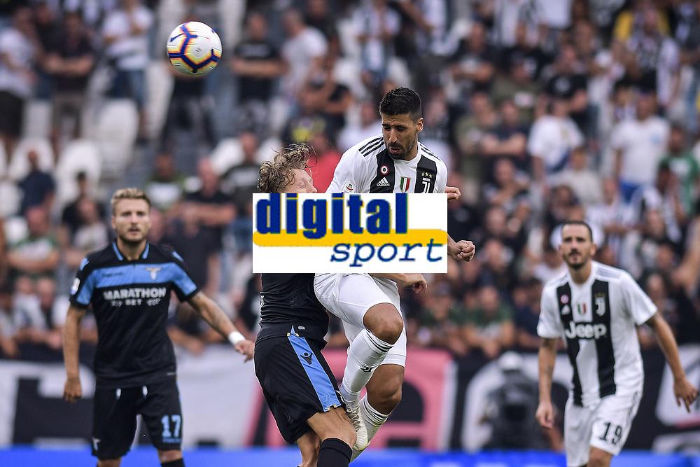 Lucas Leiva Lazio Sami Khedira Juventus <br /> Torino 25-08-2018 Allianz Stadium Football Calcio Serie A 2018/2019 Juventus - Lazio Foto OnePlusNine / Insidefoto