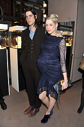 PEACHES GELDOF and THOMAS COHEN at the launch party for Spectator Life hosted by Andrew Neil at Asprey, 167 New Bond Street, London on 28th March 2012.