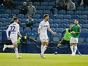 Goal celebration by Leeds United midfielder Mateusz Klich (43)  during the EFL Sky Bet Championship match between Sheffield Wednesday and Leeds United at Hillsborough, Sheffield, England on 28 September 2018.