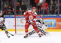 2020-03-07   Ljungby, Sverige: Troja-Ljungby (24) Hampus Olsson under matchen i Hockeyettan mellan IF Troja/Ljungby och Bodens HF i Ljungby Arena ( Foto av: Fredrik Sten   Swe Press Photo )<br /> <br /> Nyckelord: Ljungby, Ishockey, Hockeyettan, Ljungby Arena, IF Troja/Ljungby, Bodens HF, fstb200307, playoff, kval