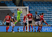 Football - 2019 / 2020 Emirates FA Cup - Fourth Round: Millwall vs. Sheffield United<br /> <br /> Sheffield United pack their defence as they protect goalkeeper Dean Henderson (Sheffield United) at The Den.<br /> <br /> COLORSPORT/DANIEL BEARHAM