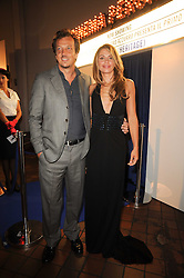 Film director GABRIELE MUCCINO and ANGELICA RUSSO at the Launch of Peroni Nastro Azzurro Accademia del Film Wrap Party Tour held atThe Boiler House, 152 Brick Lane, London E1 on 25th August 2010.
