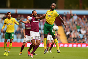 Aston Villa Aston Villa defender Ahmed Elmohamady (27) battles for possession with Norwich City striker Cameron Jerome (10) during the EFL Sky Bet Championship match between Aston Villa and Norwich City at Villa Park, Birmingham, England on 19 August 2017. Photo by Dennis Goodwin.