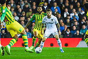 Leeds United midfielder Mateusz Klich (43) and West Bromwich Albion defender Kyle Bartley (5) during the EFL Sky Bet Championship match between Leeds United and West Bromwich Albion at Elland Road, Leeds, England on 1 October 2019.