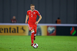 TBILSI, GEORGIA - Friday, October 6, 2017: Wales' Chris Gunter during the 2018 FIFA World Cup Qualifying Group D match between Georgia and Wales at the Boris Paichadze Dinamo Arena. (Pic by David Rawcliffe/Propaganda)