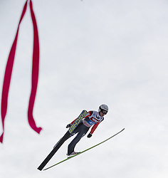 04.01.2015, Bergisel Schanze, Innsbruck, AUT, FIS Ski Sprung Weltcup, 63. Vierschanzentournee, Innsbruck, Finale, 1. Wertungssprung, im Bild Simon Ammann (SUI) // Simon Ammann of Switzerland soars trought the air during his first competition jump for the 63rd Four Hills Tournament of FIS Ski Jumping World Cup at the Bergisel Schanze in Innsbruck, Austria on 2015/01/04. EXPA Pictures © 2015, PhotoCredit: EXPA/ JFK