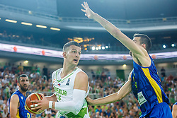 Alen Omic of Slovenia during qualifying match between Slovenia and Kosovo for European basketball championship 2017,  Arena Stozice, Ljubljana on 31th August, Slovenia. Photo by Grega Valancic / Sportida