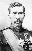 Filed Marshal Yamagata Aritomo (1838-1922), twice Prime Minister of Japan 1889-1891 and 1898-1900, father of Japanese militarism. Portrait Order Decoration