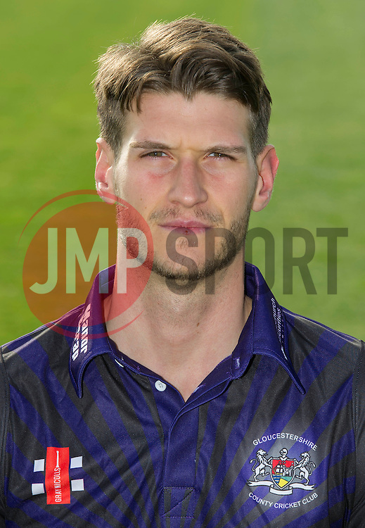 Gloucestershire player, David Payne - Photo mandatory by-line: Dougie Allward/JMP - 07966 386802 - 10/04/2015 - SPORT - CRICKET - Bristol, England - Bristol County Ground - Gloucestershire County Cricket Club Photocall.
