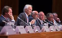 UTRECHT - Bestuur KNHB  met voorzitter Jan Albers en directeur Johan Wakkie.   Algemene Ledenvergadering  KNHB bij de Rabobank in Utrecht. . COPYRIGHT KOEN SUYK