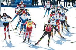 LANDERTINGER Dominik (AUT), SVENDSEN Emil Hegle (NOR), FOURCADE Martin (FRA), SHIPULIN Anton (RUS) and other athletes compete during Men 15 km Mass Start at day 4 of IBU Biathlon World Cup 2014/2015 Pokljuka, on December 21, 2014 in Rudno polje, Pokljuka, Slovenia. Photo by Vid Ponikvar / Sportida
