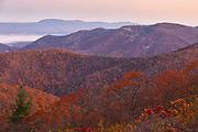 Early morning scene during autumn, Shenandoah National Park, Virginia