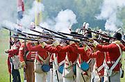 The Battle of Crysler's Farm  Canadian Fencibles, with colours, fire volley  The Battle of Crysler's Farm.