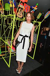 VANESSA ARELLE at a dinner at The Bulgari Hotel, 171 Knightsbridge to celebrate The London Design Festival on 13th September 2016.