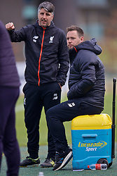 BURTON-UPON-TRENT, ENGLAND - Saturday, December 3, 2016: Liverpool's manager Michael Beale and coach Mike Garrity during the Premier League International Cup match against Leicester City at St. George's Park. (Pic by David Rawcliffe/Propaganda)