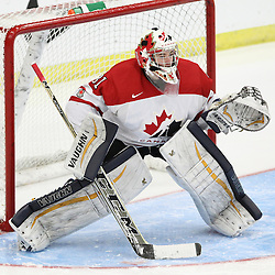 COBOURG, - Dec 15, 2015 -  Game #5 - Canada West vs the United States at the 2015 World Junior A Challenge at the Cobourg Community Centre, ON. Matthew Murray #31 of Team Canada West follows the play during the second period.(Photo: Tim Bates / OJHL Images)