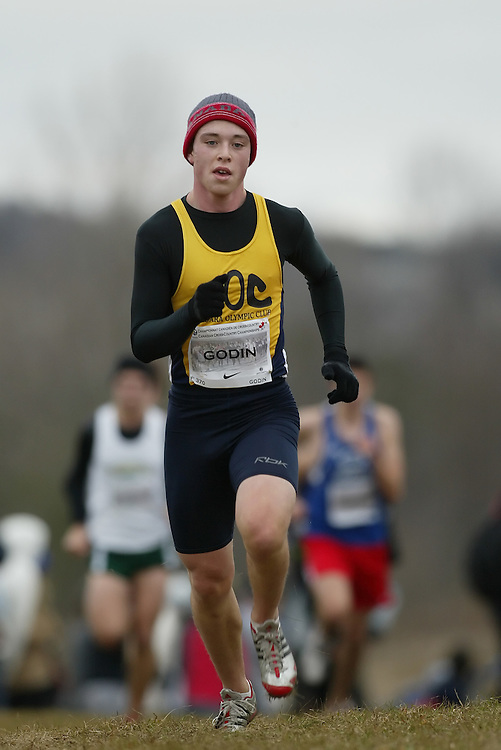 (Guelph, Ontario---28 November 2009) Zachary Godin of Niagara Olympic Club runs in the Junior Men's at the 2009 AGSI Cross Country Championships in Guelph, Ontario, November 28, 2009..Sean Burges/ Mundo Sport Images, 2009