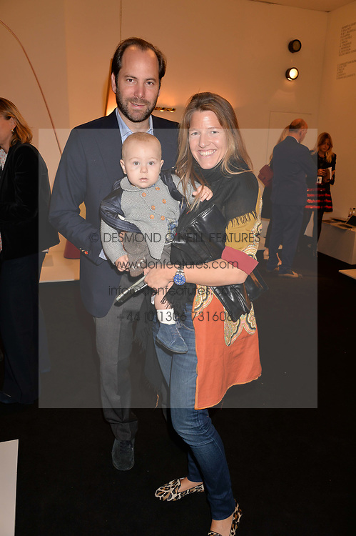 Felipe & Anoushka Figueroa Branco and their son Carlos at the 2017 PAD Collector's Preview, Berkeley Square, London, England. 02 October 2017.