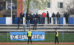 Terror Boys, ultras of Gorica during football match between ND Gorica and ND Mura 05 in 20th Round of Slovenian First League PrvaLiga NZS 2012/13 on November 24, 2012 in Nova Gorica, Slovenia. (Photo By Ales Cipot / Sportida).