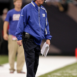 2009 October 18: New York Giants head coach Tom Coughlin on the sideline during a 48-27 win by the New Orleans Saints over the New York Giants at the Louisiana Superdome in New Orleans, Louisiana.