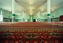 Interior of Islamic Mosque in Salwa, Saudi Arabia.