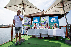 Gasper Bolhar at press conference of ATP Challenger Zavarovalnica Sava Slovenia Open 2018, on August 6, 2018 in Sports centre, Portoroz/Portorose, Slovenia. Photo by Urban Urbanc / Sportida