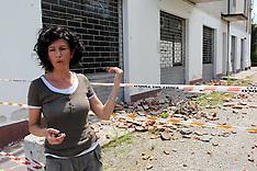 20120614 TERREMOTO NEL FERRARESE- PARRUCCHIERA DI SCORTICHINO CON NEGOZIO DISTRUTTO DAL TERREMOTO