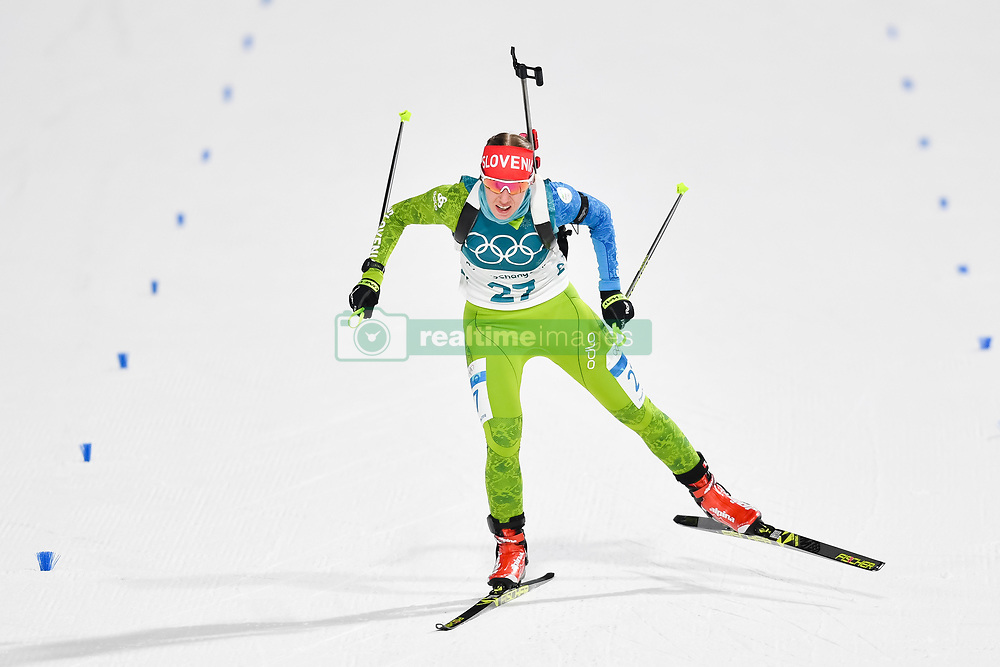 February 10, 2018 - Pyeongchang, South Korea - 180210 Anja Erzen of Slovenia competes in Women's Biathlon 7,5 km Sprint during day one of the 2018 Winter Olympics on February 10, 2018 in Pyeongchang..Photo: Petter Arvidson / BILDBYRN / kod PA / 87614 (Credit Image: © Petter Arvidson/Bildbyran via ZUMA Press)