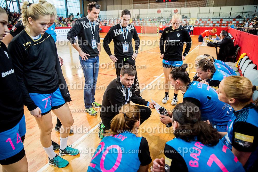 Uros Bregar, head coach of RK Krim during 2nd Leg handball match between RK Krim Mercator and HC Lada Togliatti (ROU) in Semifinal of Women Cup Winners' Cup 2015/16, on April 9, 2016 in Arena Kodeljevo, Ljubljana, Slovenia. Photo by Vid Ponikvar / Sportida