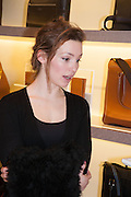 PERDITA WEEKS, Smythson Sloane St. Store opening. London. 6 February 2012.