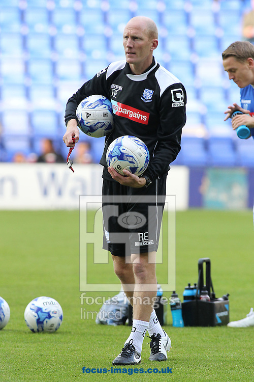 Rob Edwards, manager of Tranmere Rovers, prior to the Capital One Cup match against Nottingham Forest at Prenton Park, Birkenhead.<br /> Picture by Michael Sedgwick/Focus Images Ltd +44 7900 363072<br /> 12/08/2014
