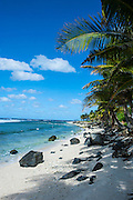 Wild beaches on the east coast of Tutuila island, American Samoa, South Pacific
