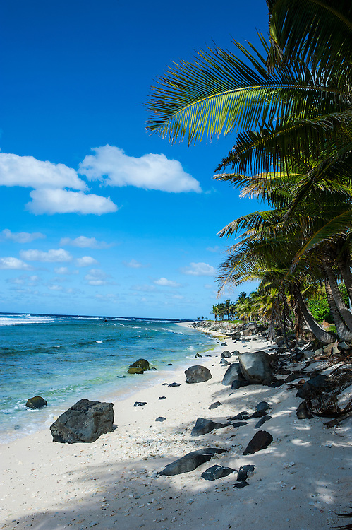 Wild beaches on the east coast of Tutuila island, American Samoa, South Pacific