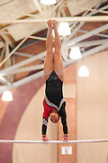 January 17, 2010; Stanford, CA, USA; Stanford Cardinal gymnast Danielle Ikoma performs on the bars during the meet against the Arizona Wildcats at Burnham Pavilion. The Cardinal defeated the Wildcats 196.025-194.675. Mandatory Credit: Kyle Terada-Terada Photo