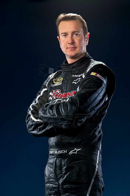 Spartanburg, SC - January 17, 2012:  NASCAR Champion, Kurt Busch, at the Phoenix Racing Complex in Spartanburg, SC.