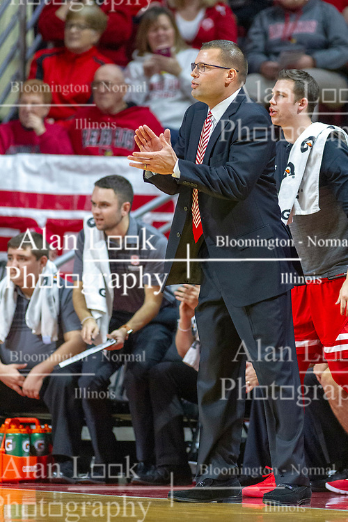 NORMAL, IL - February 16:  Brian Wardle during a college basketball game between the ISU Redbirds and the Bradley Braves on February 16 2019 at Redbird Arena in Normal, IL. (Photo by Alan Look)