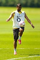 Photo: Richard Lane.<br />Arsenal Training Session. The Barclays Premiership. 11/05/2006.<br />Ashley Cole controls the ball during a training session ahead of next weeks Champions League final.