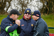 NHL Division 2B at Trim, 6th March 2016<br /> Meath vs Donegal<br /> The Meath Hurling Management Team, Martin Ennis with John Andrews & Michael McCullough<br /> Photo: David Mullen /www.cyberimages.net / 2016