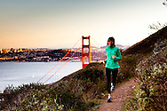 Trail Runner near Golden Gate Bridge
