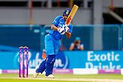 India ODI batsman Shikhar Dhawan with a boundary during the 3rd Royal London ODI match between England and India at Headingley Stadium, Headingley, United Kingdom on 17 July 2018. Picture by Simon Davies.
