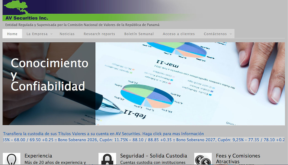 Fotograf&iacute;as para el Website de AV Securities Inc. Panama.<br /> Casa de Valores<br /> http://ww0.avsecurities.com/site/