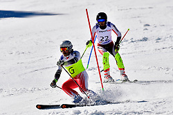 DELEPLACE Hyacinthe, Guide: JOURDAN Maxime, B2, FRA, Slalom at the WPAS_2019 Alpine Skiing World Cup, La Molina, Spain