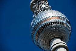 Detail of Television Tower at Alexanderplatz in Mitte Berlin